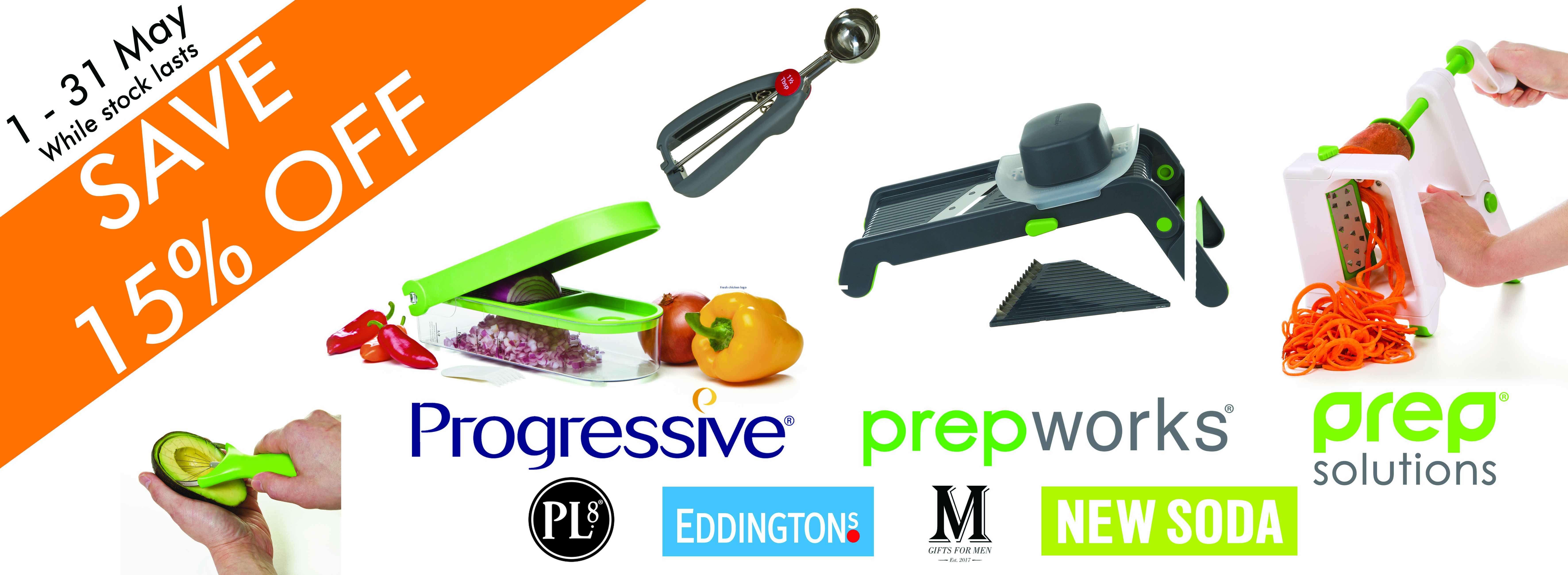 SAVE 15% off on any Progressive item during May 2018