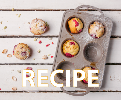 Recipe: Pistachio & Raspberry Muffins by Eetrite