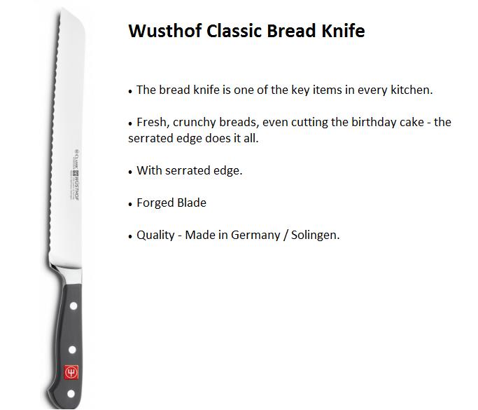 Wusthof Classic Bread Knife 23cm