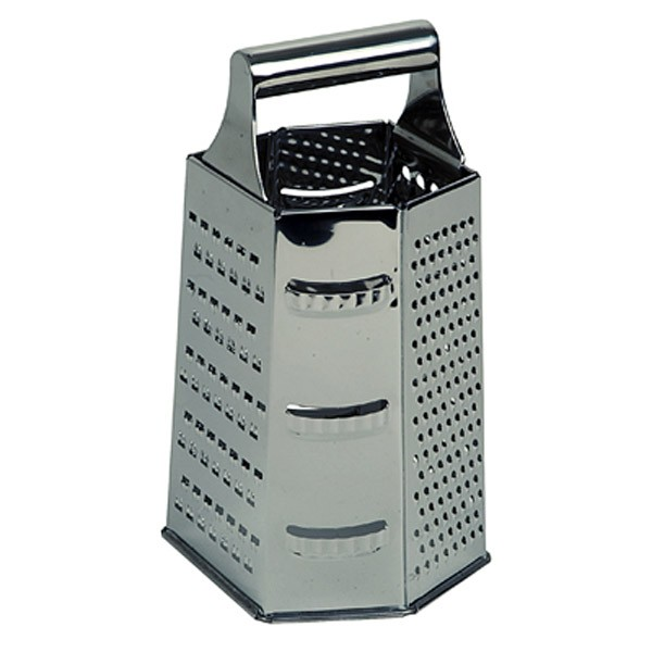 Grater 6 Sided Stainless Steel Handle