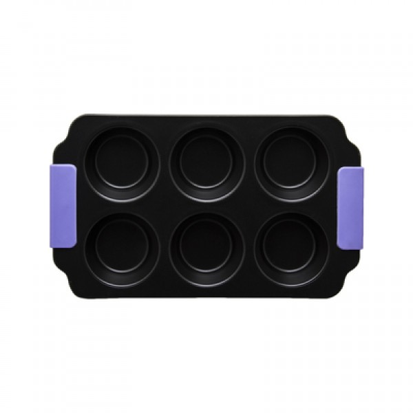 Regent 6 Cup Muffin Pan with Silicone Grips